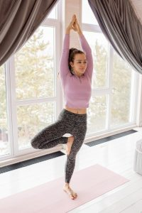 Tree pose yoga