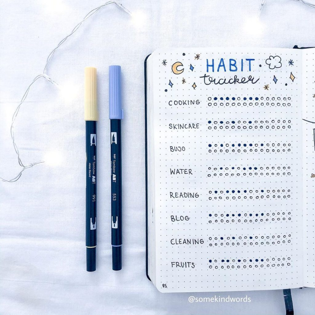 27 Habit Tracker Ideas for your Bullet Journal