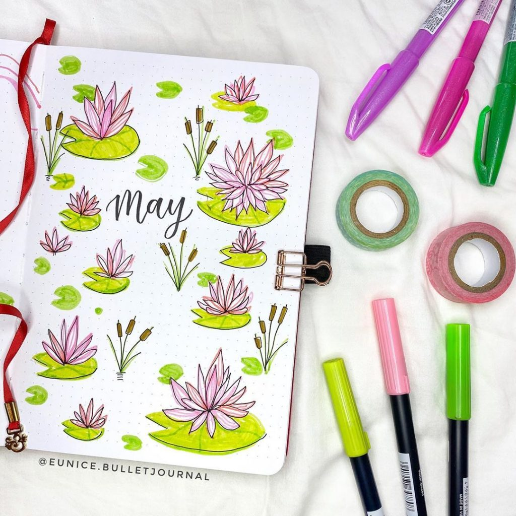 19 Bullet Journal Cover Page Ideas For May