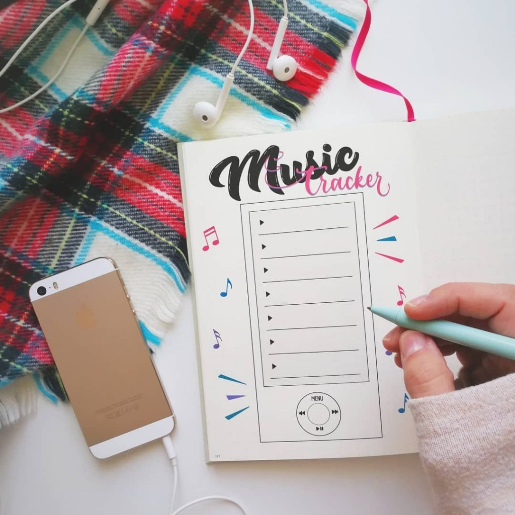 Playlist tracker bullet journal