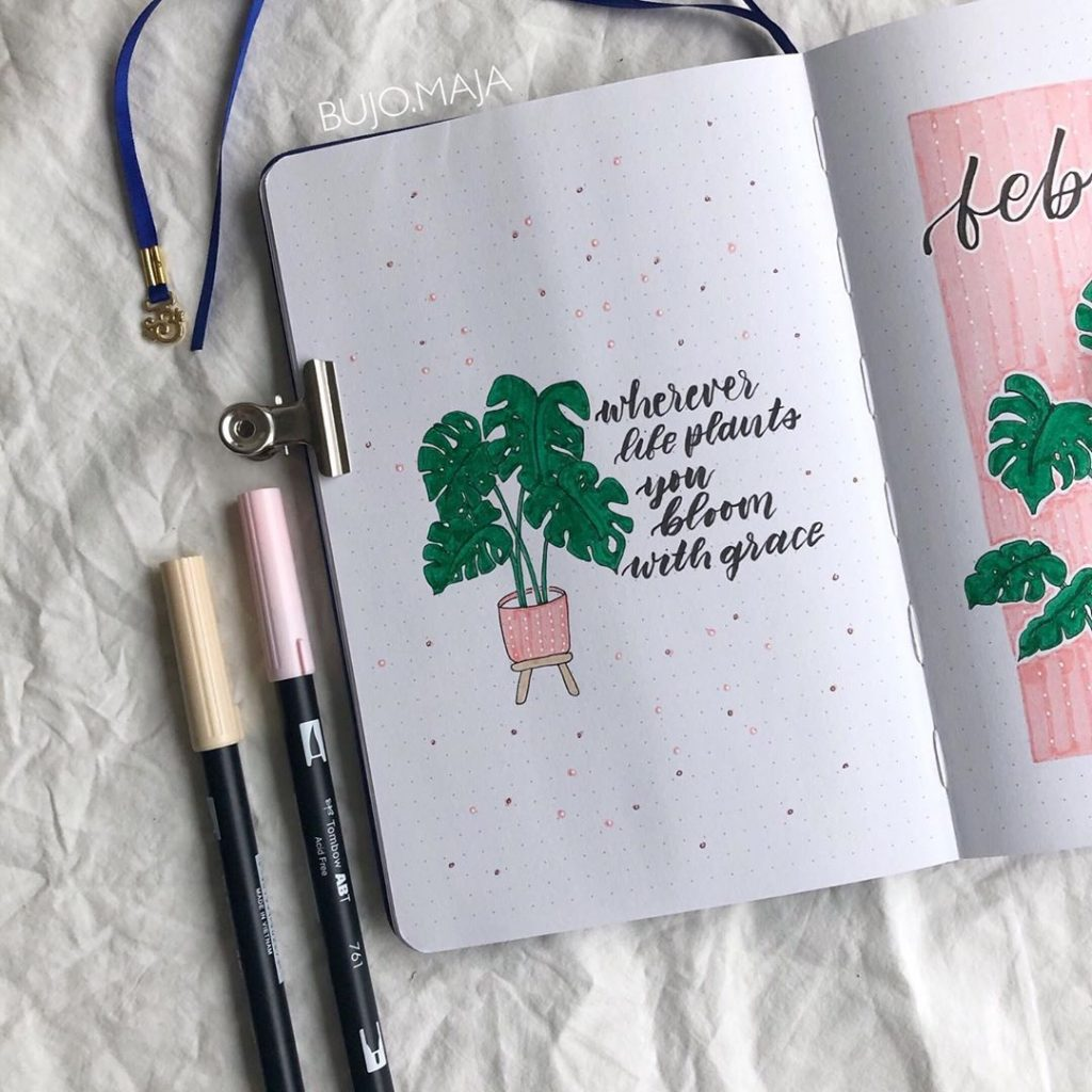 Bullet Journal Quote Page Ideas