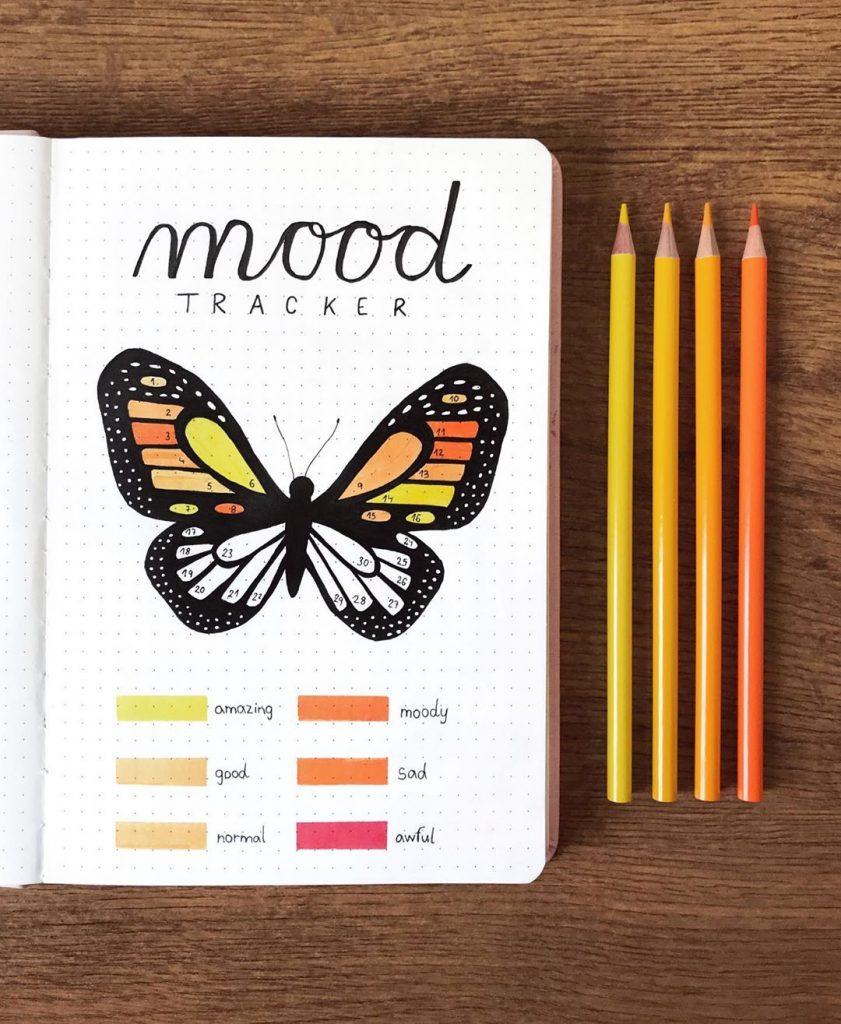Mood Tracker Bullet Journal Ideas