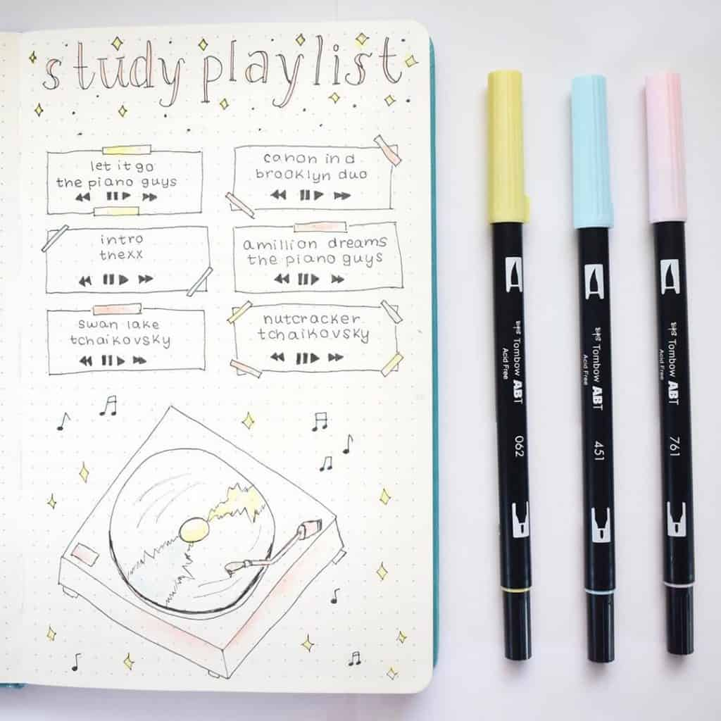 Music Bullet Journal