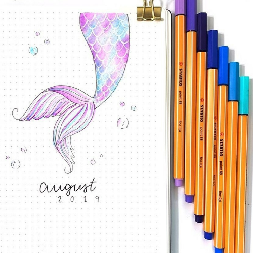 august bullet journal ideas