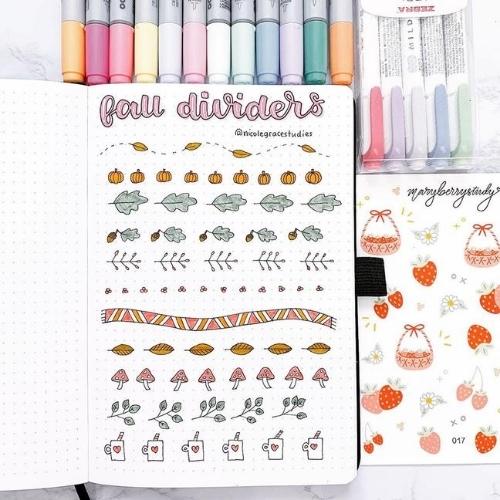 Fall Bullet Journal Doodles
