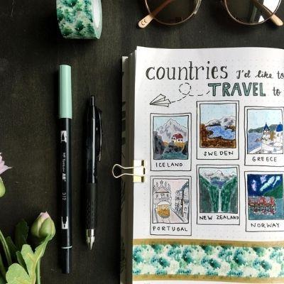 travel bullet journal ideas