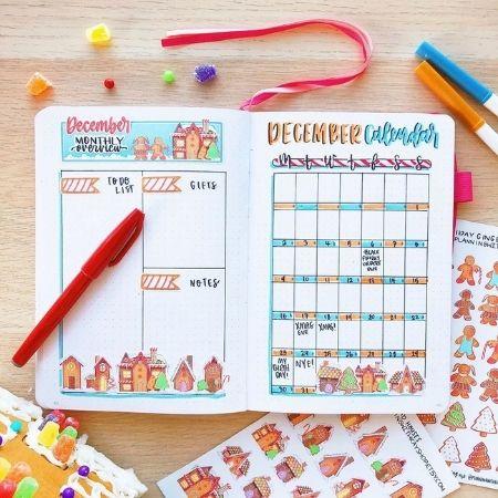December bullet journal ideas