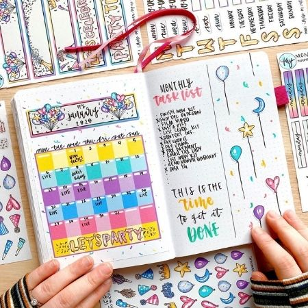 Bullet Journal Calendar Ideas